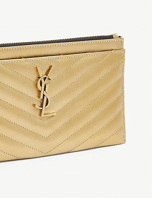 SAINT LAURENT Metallic monogram wallet
