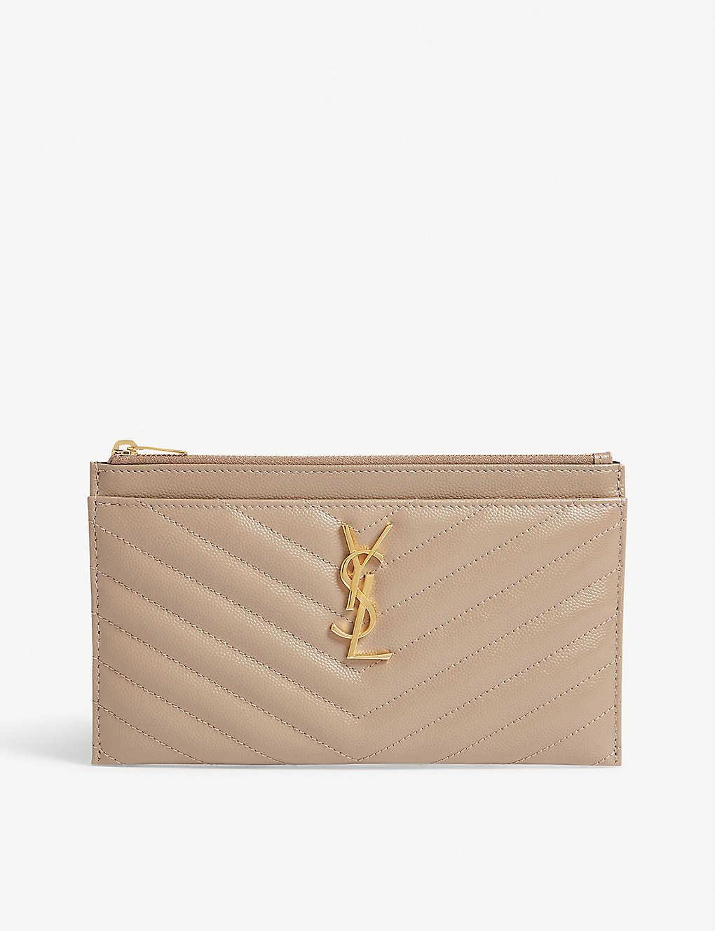 2f562110b18 SAINT LAURENT - Monogram quilted leather pouch | Selfridges.com