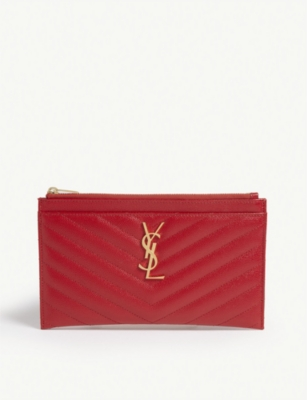 SAINT LAURENT Monogram quilted leather pouch