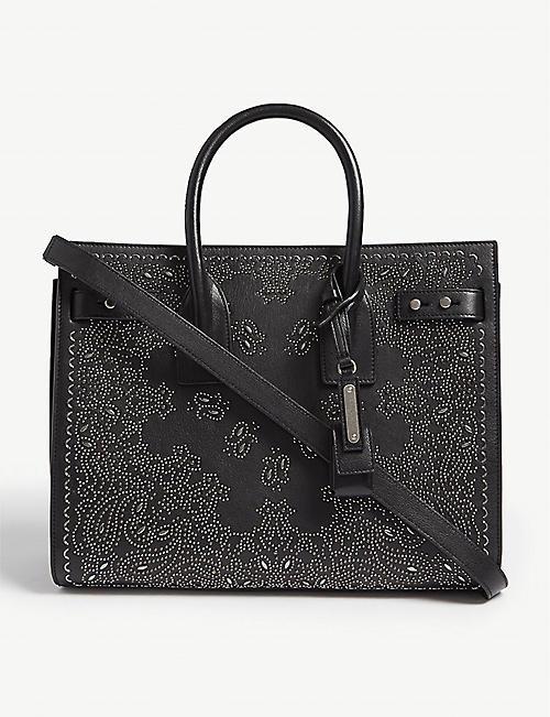 2a4d1b6e4ea7 SAINT LAURENT Sac de Jour paisley small leather tote bag