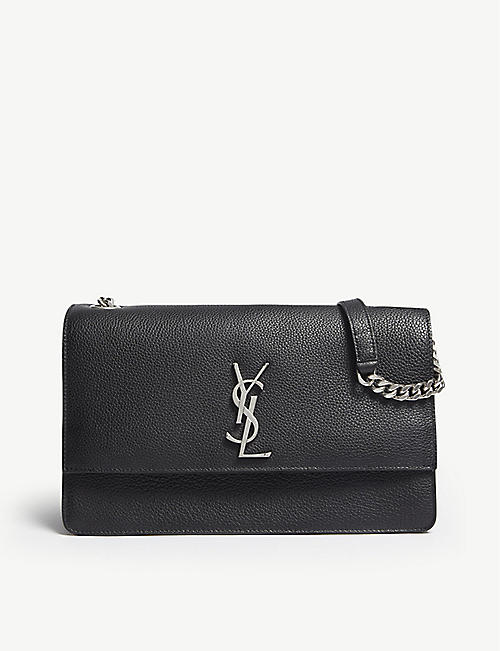 50031c7fd6 SAINT LAURENT - Sunset monogram leather medium shoulder bag ...