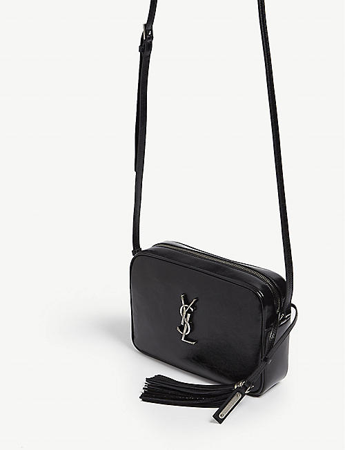 SAINT LAURENT Leather camera bag
