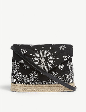 SAINT LAURENT Toy Loulou bandana cotton shoulder bag
