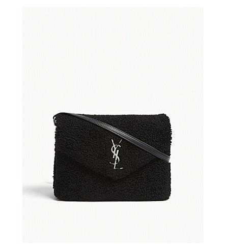 c84162834d2c SAINT LAURENT Monogram Loulou Toy shearling cross-body bag (Black
