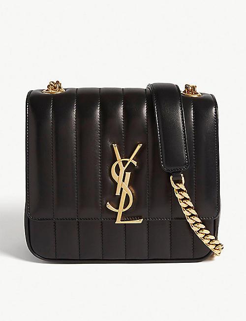 SAINT LAURENT Vicky medium quilted leather cross-body bag c910213707fce