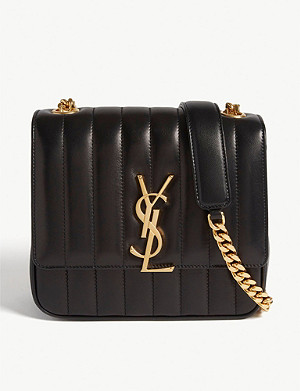 SAINT LAURENT Vicky medium quilted leather cross-body bag