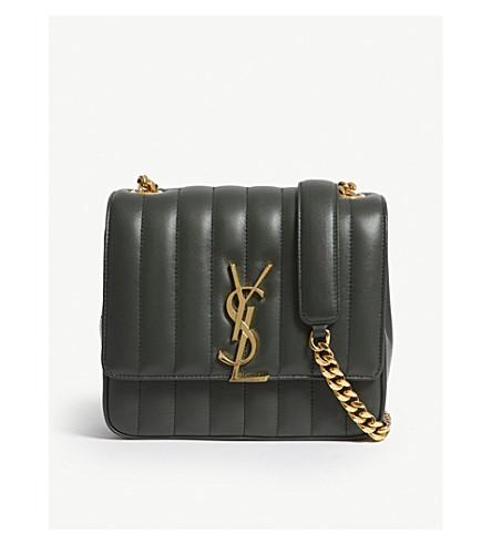 409c0ddd2b0d ... SAINT LAURENT Monogram Vicky medium leather cross-body bag (Green.  PreviousNext