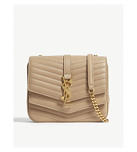 0ceddd33d378 ... SAINT LAURENT Sulpice small quilted leather cross-body bag  (Sahara+beige. PreviousNext