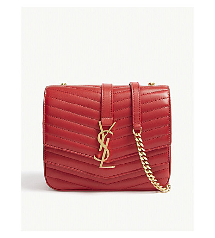 6fa41c8d3261 ... SAINT LAURENT Sulpice monogram small quilted leather cross-body bag  (Red. PreviousNext