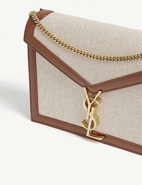 SAINT LAURENT Cassandra monogram canvas shoulder bag
