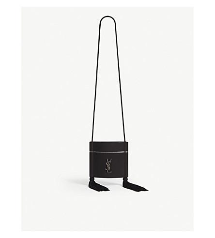 Opyum Tasseled Leather Shoulder Bag, Black