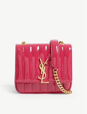 SAINT LAURENT Patent Vicky cross-body bag
