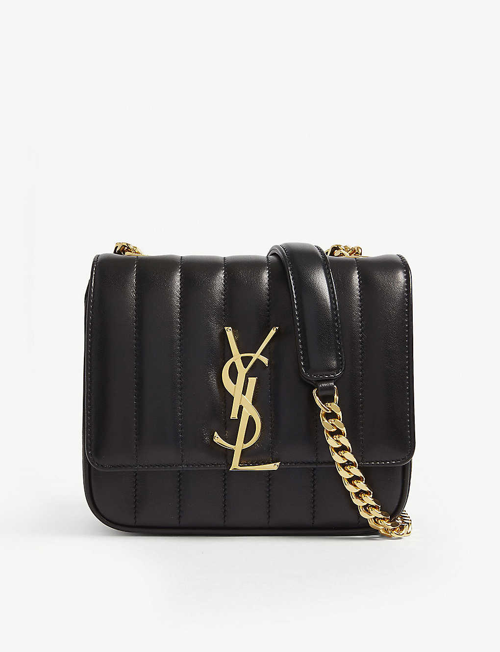 e99b2f97ee0 SAINT LAURENT - Vicky small quilted leather cross-body bag ...