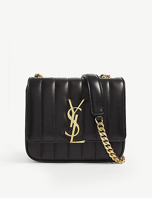 SAINT LAURENT Vicky small quilted leather cross-body bag