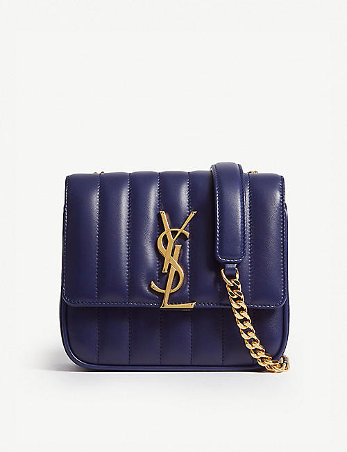 SAINT LAURENT Monogram Vicky small leather cross-body bag