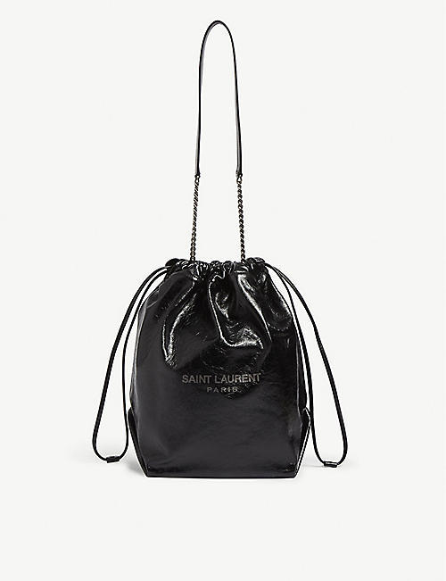 SAINT LAURENT Teddy leather shoulder bag