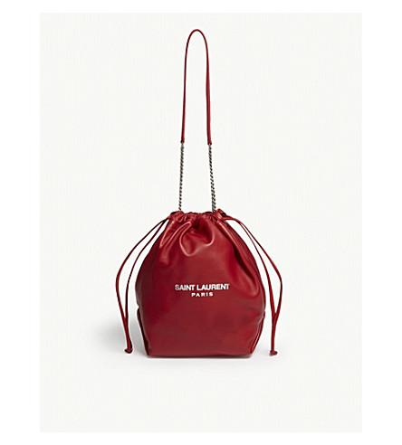 ... SAINT LAURENT Teddy leather bucket bag (Red. PreviousNext 4cbbf17d0597d