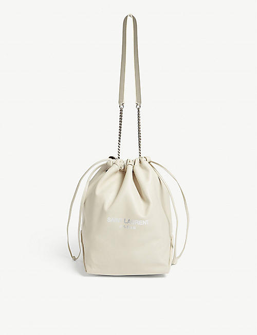 SAINT LAURENT Teddy leather bucket bag