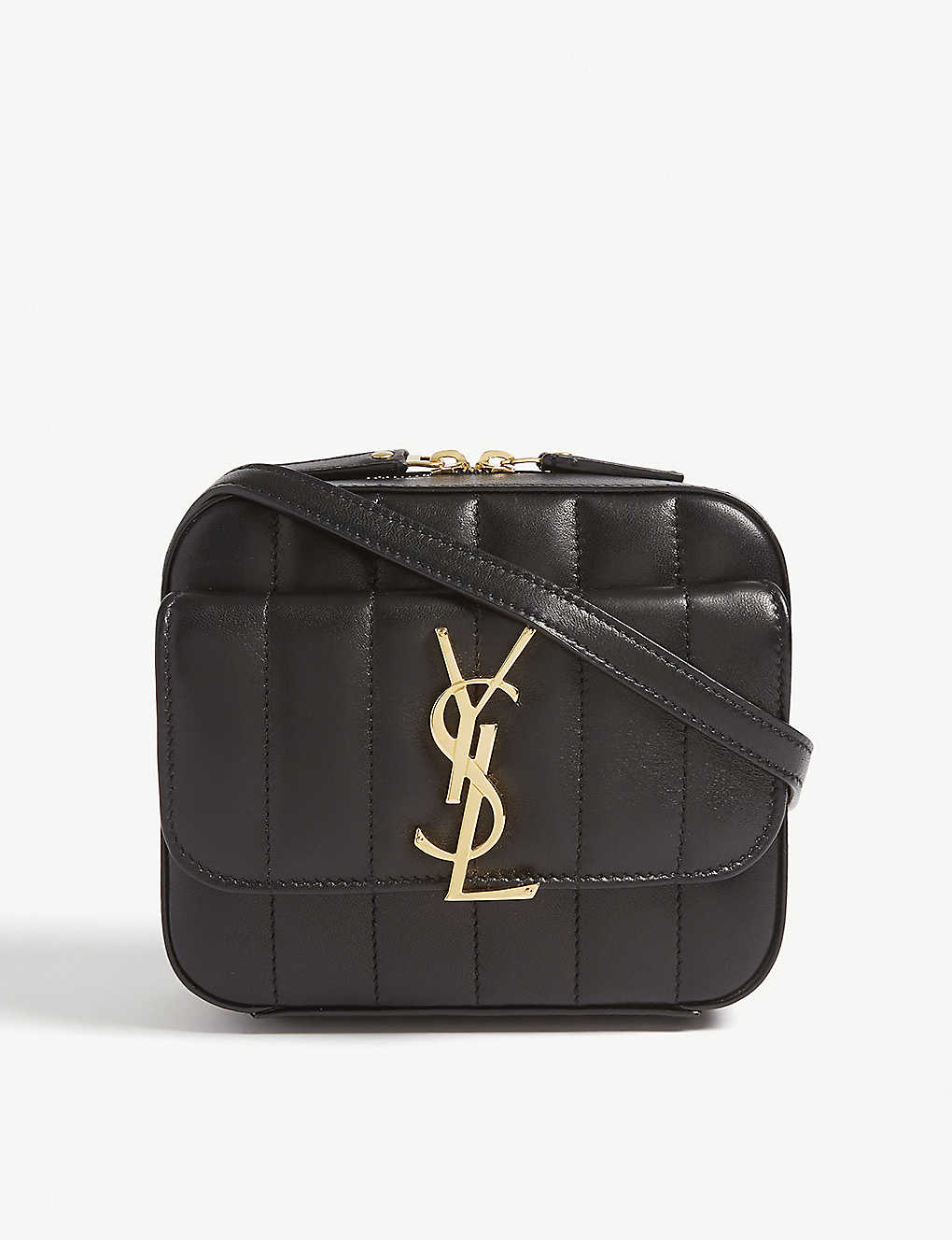 daf00fc6a SAINT LAURENT - Vicky quilted leather camera bag | Selfridges.com