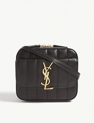 SAINT LAURENT Vicky quilted leather camera bag