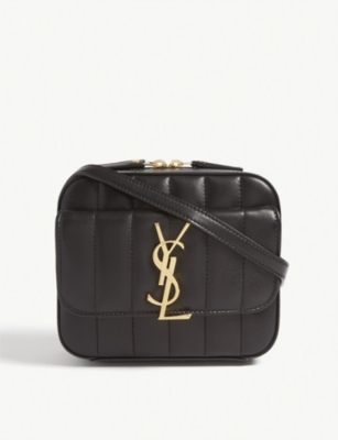 Vicky Quilted Leather Camera Bag by Saint Laurent