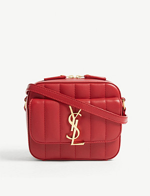SAINT LAURENT Vicky toy quilted leather camera bag