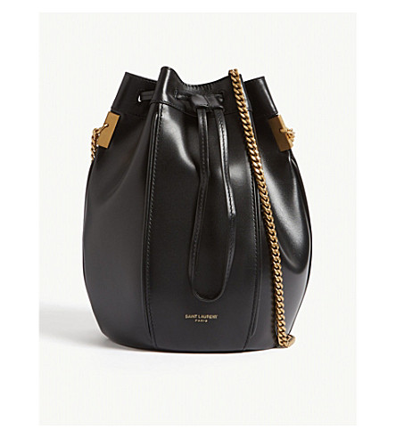 77426828386d ... SAINT LAURENT Talitha small leather bucket bag (Black. PreviousNext