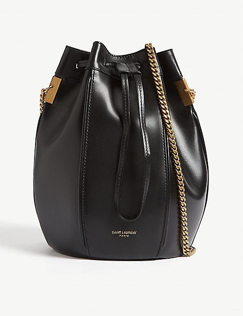 2396d0286c99 SAINT LAURENT Talitha small leather bucket bag