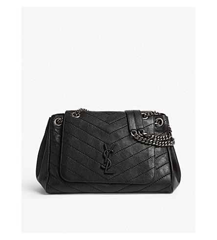 63f74b0f347 SAINT LAURENT Nolita monogram medium leather shoulder bag (Black
