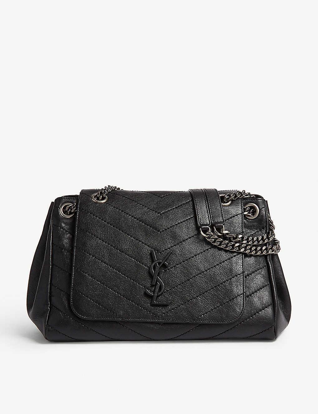 c9770587a3 SAINT LAURENT - Nolita monogram medium leather shoulder bag ...