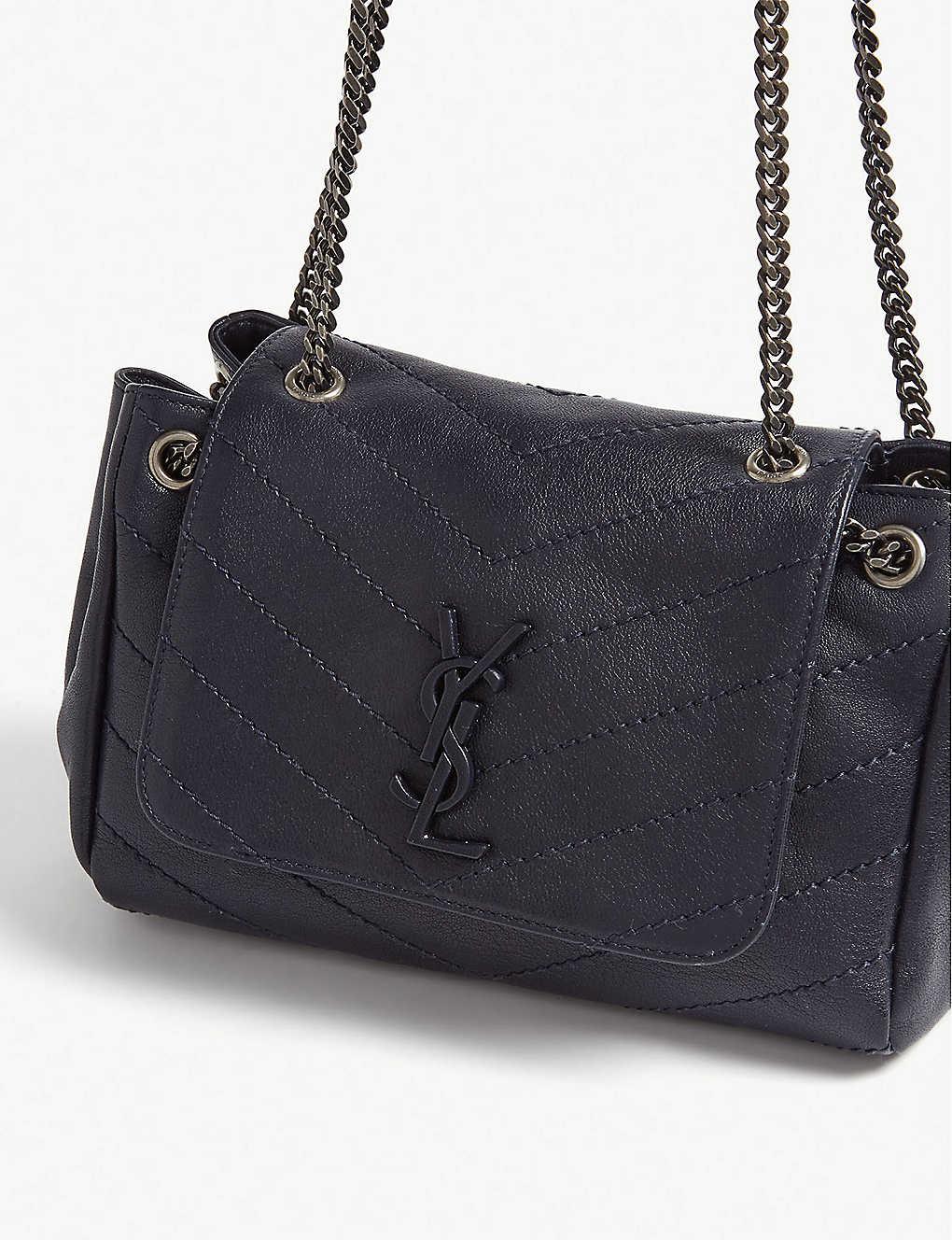 e7ef73d708 ... Nolita monogram small leather shoulder bag - Midnight blue zoom