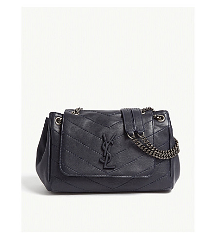 ec02fbea2a4b SAINT LAURENT Nolita monogram small leather shoulder bag (Midnight+blue