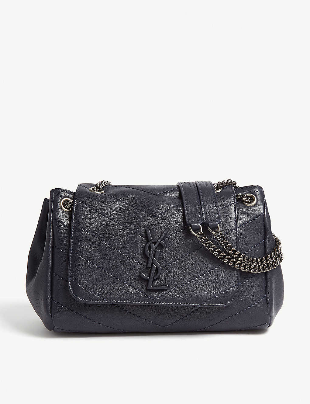 e553ec56bd Nolita monogram small leather shoulder bag - Midnight blue ...