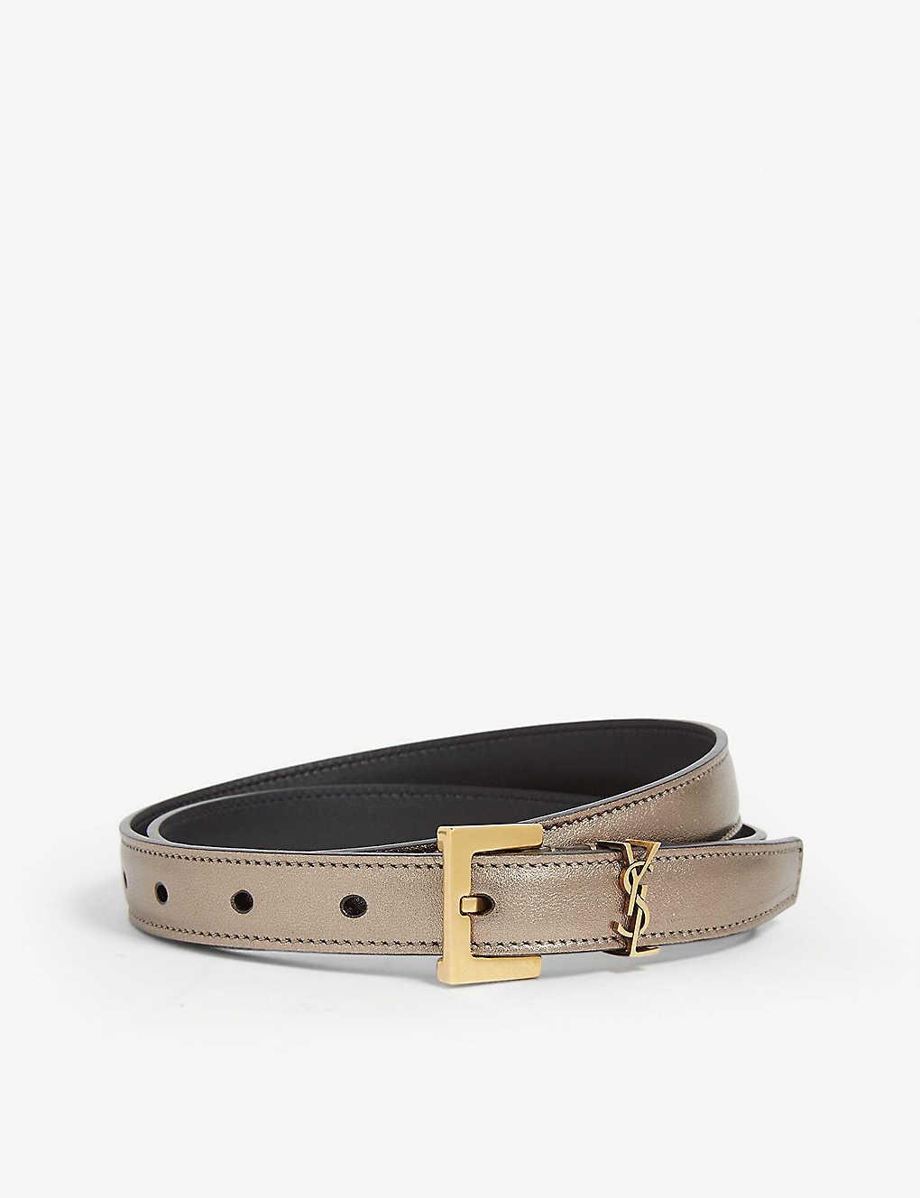 bb5a5532c SAINT LAURENT - YSL leather belt | Selfridges.com