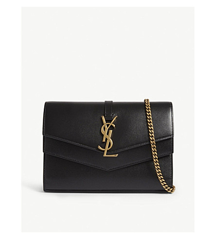 d337951857f2 ... SAINT LAURENT Sulpice leather shoulder bag (Black. PreviousNext