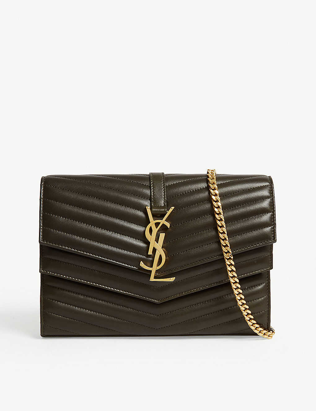 a4a3e30ed45 SAINT LAURENT - Sulpice quilted leather wallet-on-chain | Selfridges.com