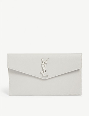 SAINT LAURENT Uptown leather pouch