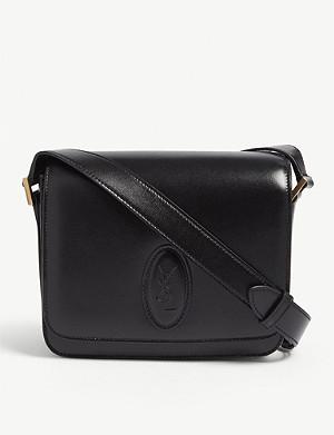 599ac3de0d9 SAINT LAURENT - Lou linen camera bag | Selfridges.com