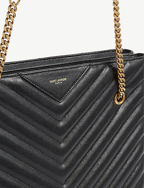 SAINT LAURENT Tribeca quilted leather shopper