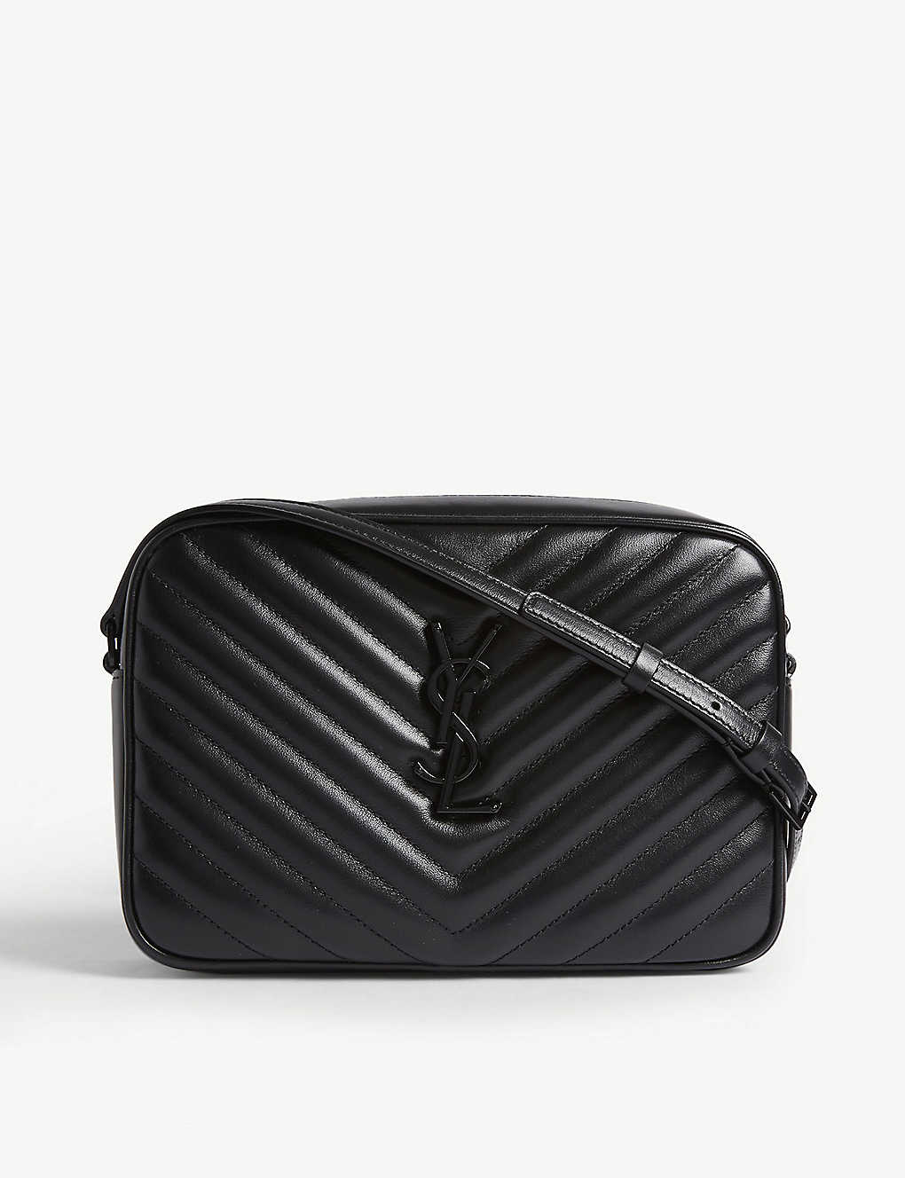 SAINT LAURENT: Quilted Lou leather camera bag