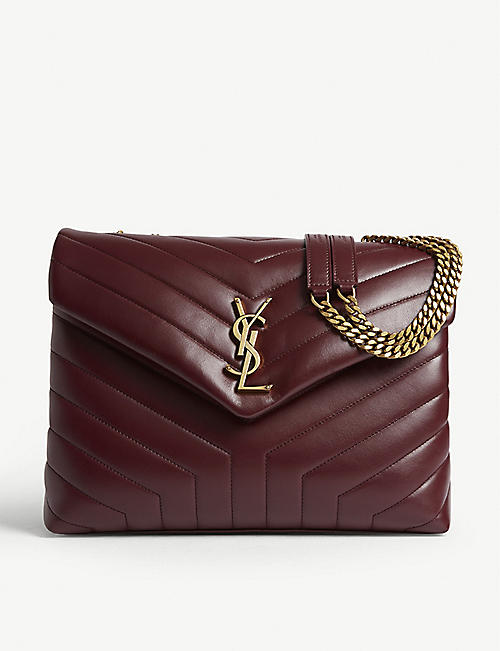 1985c98568 SAINT LAURENT Lou Lou quilted leather shoulder bag