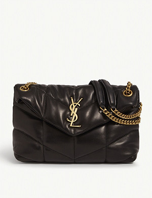 SAINT LAURENT Small Loulou monogram puffer shoulder bag