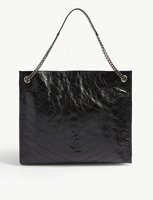 SAINT LAURENT Leather shopper bag