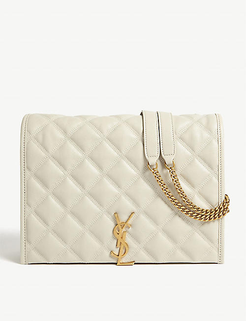 SAINT LAURENT: Becky quilted leather small shoulder bag