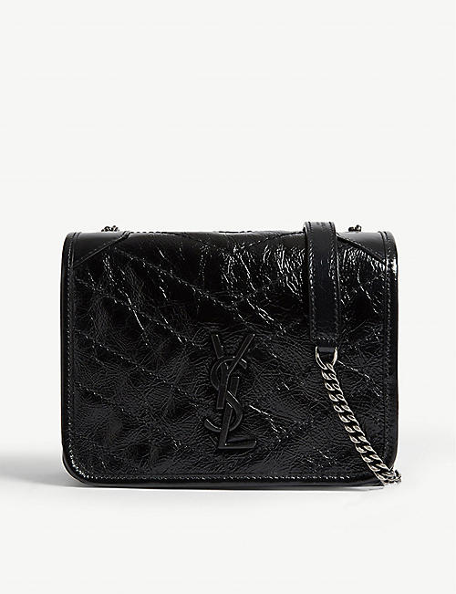 SAINT LAURENT: Niki leather wallet-on-chain