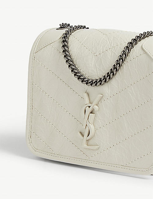 SAINT LAURENT Niki leather wallet-on-chain