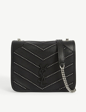 SAINT LAURENT Niki studded leather shoulder bag