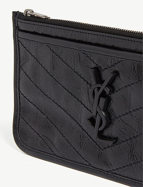 SAINT LAURENT Niki leather pouch
