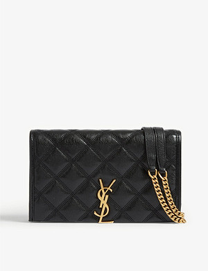 SAINT LAURENT Becky leather wallet-on-chain
