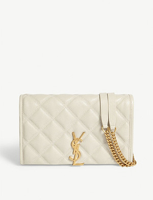 SAINT LAURENT Becky leather wallet on chain